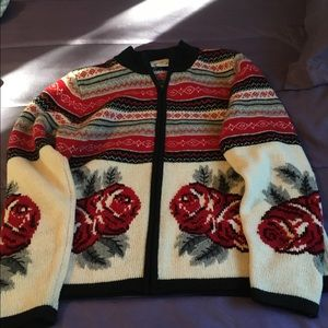 Talbots Winter/ Christmas Sweater large.